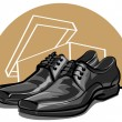 Men shoes - Stock Vector
