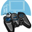Stock Vector: Game controller