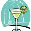 Stock Vector: Cocktail Margarita