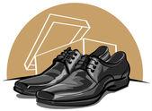 Men shoes — Stock Vector