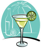 Cocktail Margarita — Stock Vector