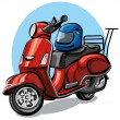 Stock Vector: Scooter motorcycle