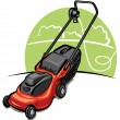 Stock Vector: Lawn mower