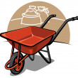 Stock Vector: Wheelbarrow