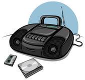 Przenośny magnetofon z odtwarzaczem cd — Wektor stockowy