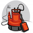 Stock Vector: Water pump appliance