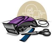Electric hair clipper — Stock Vector