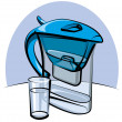 Vettoriale Stock : Water filter