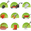 Web icons garden tools — Stock Vector