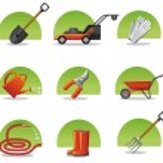 Web icons garden tools — Stock Vector