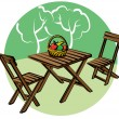 Stock Vector: Garden furniture