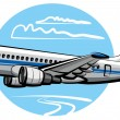 Stock Vector: Passenger airplane