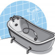 Bathtub — Image vectorielle