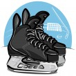 Hockey skates — Stock Vector