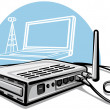 Stock Vector: Wireless router