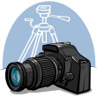Stock Vector: Digital camera