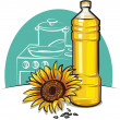 Stock Vector: Sunflower cooking oil