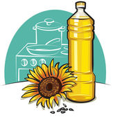Sunflower cooking oil — Stock Vector