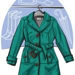 Rain coat — Stock Vector #8761574