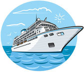 Luxury cruise ship — Stock Vector