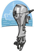 Outboard boat motor — Stock Vector