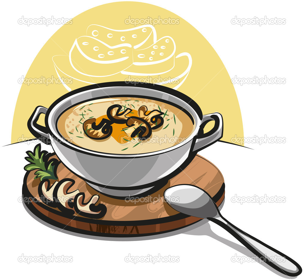 Mushroom soup  Stock Vector #8761532