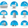 Royalty-Free Stock Vector Image: Bathroom and toilet web icon set