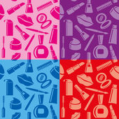 Cosmetic seamless patterns — Stock Vector