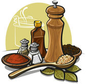 Spices — Vector de stock