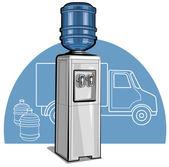 Electric water cooler — Stock Vector