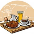 Stock Vector: Hotel breakfast