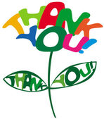 Thank You inscription — Vector de stock
