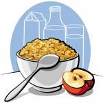 Tasty cornflakes — Stock Vector
