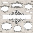 Vintage frames and ornaments — Stock Vector