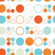 Stock Vector: Seamless pattern of colored circles and rings