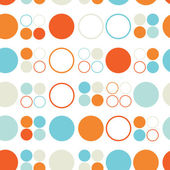 Seamless pattern of colored circles and rings — Stock Vector