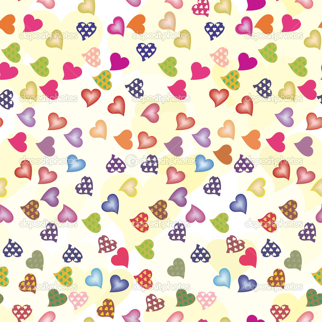 Background for Valentine's Day with colorful hearts — Stock Vector #8225434