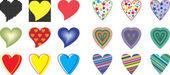 Vector coração de coleção — Vetor de Stock