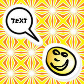 Seamless pattern with a talking smiley — Stock Vector