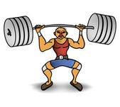 человек поднять вес — Cтоковый вектор