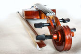 Violin and Bow. — Stock Photo