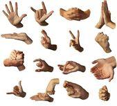 Mani mostrano segni. gesticolazione. — Foto Stock