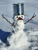 The small snow man for game. — Stock Photo