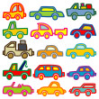 Stock Vector: Cars and trucks