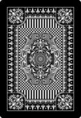 Playing card back side 62x90 mm — Stockvektor