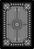 トランプのカードの裏面 62 x 90 mm — ストックベクタ