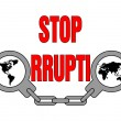Royalty-Free Stock Vector Image: Stop corruption
