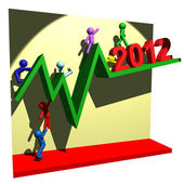 Financial line of 2012 — Stock Photo