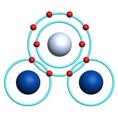 Water molecule on white background — Stock Photo