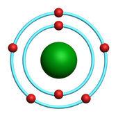 Nitrogen atom on white background — Stock Photo